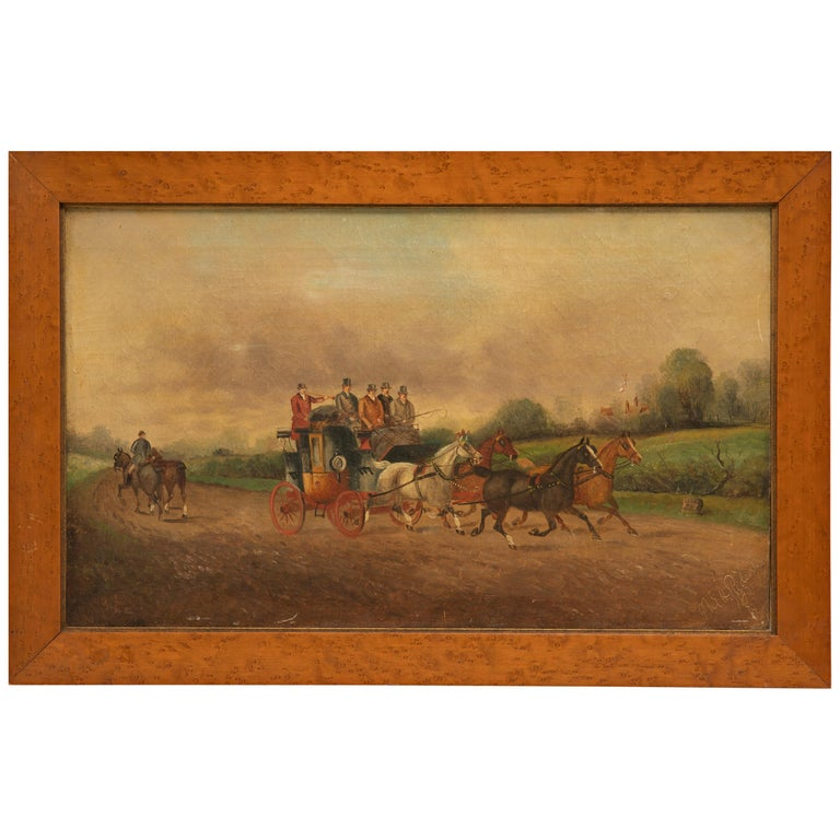 Philip Henry Rideout Signed Oil on Canvas, 1893 For Sale