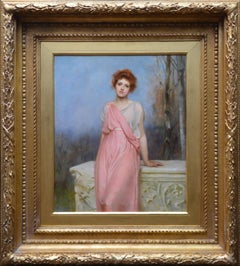 The Changer of Hearts - 19th Century Oil Painting Portrait of Roman Beauty