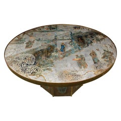 """Philip & Kelvin Laverne """"Chan #142 Coffee Table"""" 1960s 'Signed'"""