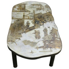 Philip & Kelvin LaVerne Chan Bronze Chinoiserie Coffee Table #140