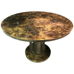 """Philip and Kelvin LaVerne Dining / Centre Table Michelangelo's """"Creation of Man"""""""