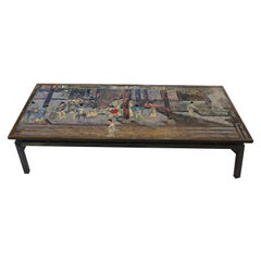 "Philip & Kelvin LaVerne Large ""Chin Ying"" Coffee Table, 1960s 'Signed'"