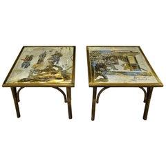"Philip & Kelvin LaVerne ""Ming #131"" Tables 1960s 'Signed'"