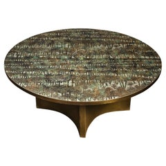 """Philip & Kelvin LaVerne Rare """"Eternal Forest"""" Coffee Table, 1960s"""