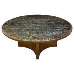 "Philip & Kelvin Laverne Rare ""Eternal Forest"" Coffee Table 1960s 'Signed'"