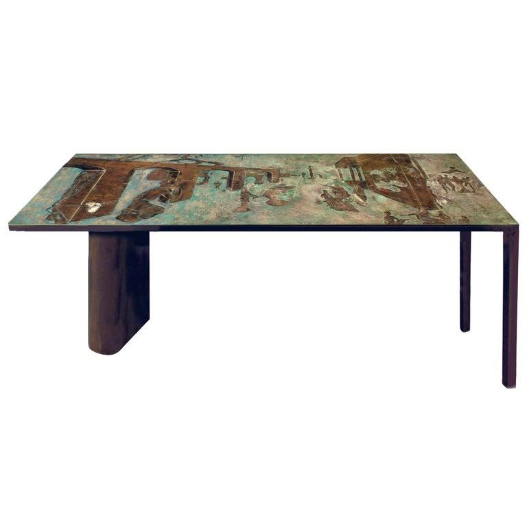 "Philip & Kelvin Laverne Rare ""Surrealistic"" Console Table, 1960s 'Signed' For Sale"