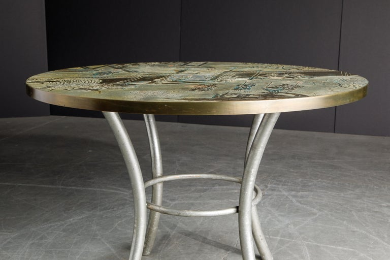 Philip & Kelvin LaVerne Special 'Chan' Bronze Game Table, circa 1965, Signed For Sale 7