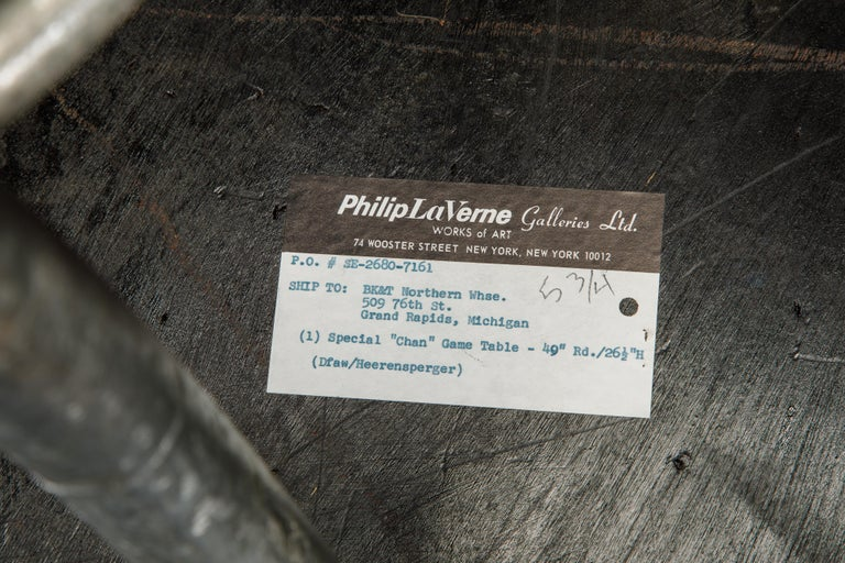 Philip & Kelvin LaVerne Special 'Chan' Bronze Game Table, circa 1965, Signed For Sale 10