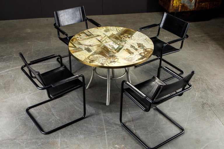 Philip & Kelvin LaVerne Special 'Chan' Bronze Game Table, circa 1965, Signed For Sale 12