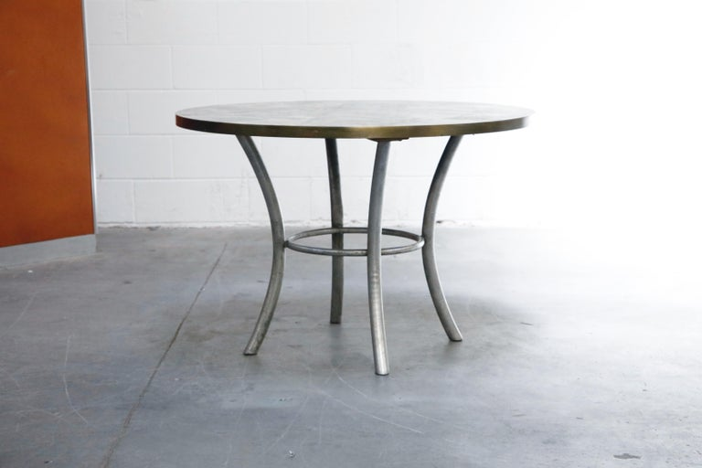 Modern Philip & Kelvin LaVerne Special 'Chan' Bronze Game Table, circa 1965, Signed For Sale