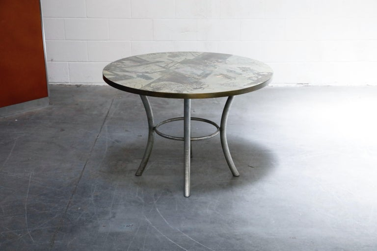 American Philip & Kelvin LaVerne Special 'Chan' Bronze Game Table, circa 1965, Signed For Sale