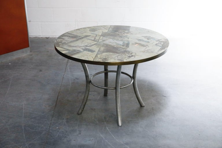 Hand-Crafted Philip & Kelvin LaVerne Special 'Chan' Bronze Game Table, circa 1965, Signed For Sale