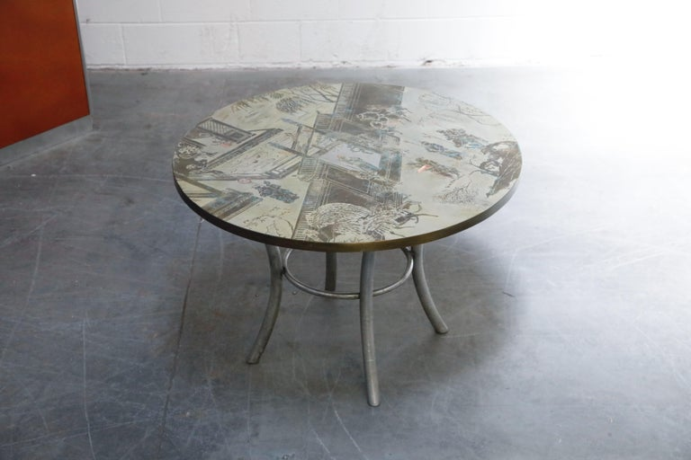 Philip & Kelvin LaVerne Special 'Chan' Bronze Game Table, circa 1965, Signed For Sale 1
