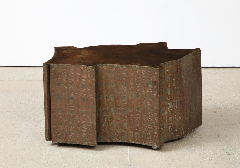 Bronze Philip & Kelvin LaVerne Table For Sale