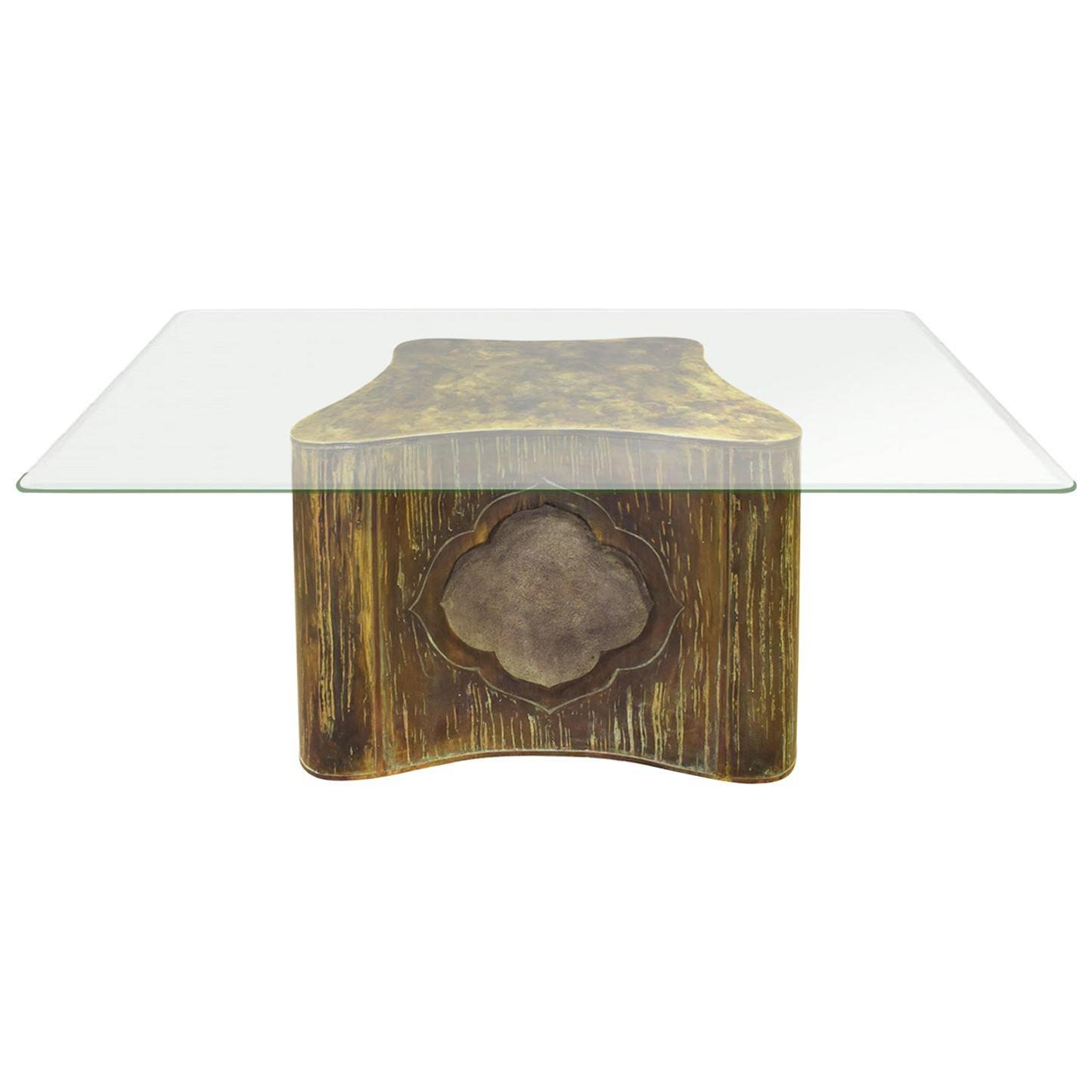 Philip & Kelvin LaVerne Unique Large Pedestal Dining Table, 1960s 'Signed'