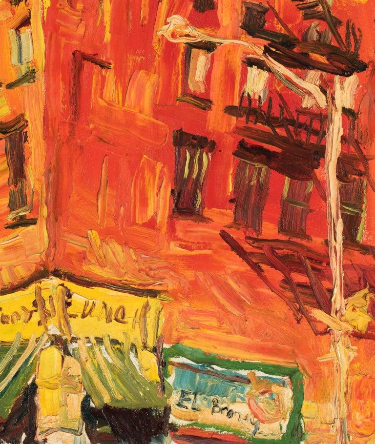 Untitled - Orange Landscape Painting by Philip Lawrence Sherrod