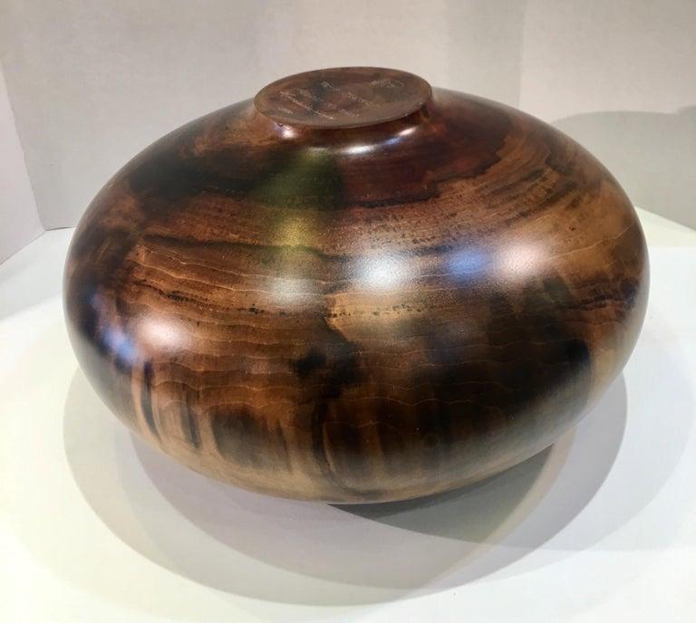 Philip Moulthrop Large Scale Museum Quality Tulipwood Turned Vase Vessel Bowl 10