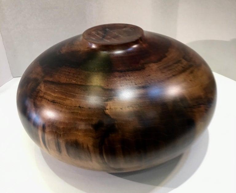 Philip Moulthrop Large Scale Museum Quality Tulipwood Turned Vase Vessel Bowl 11