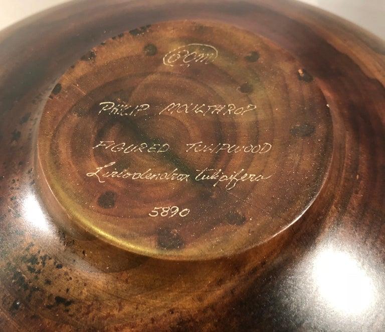 Philip Moulthrop Large Scale Museum Quality Tulipwood Turned Vase Vessel Bowl 12