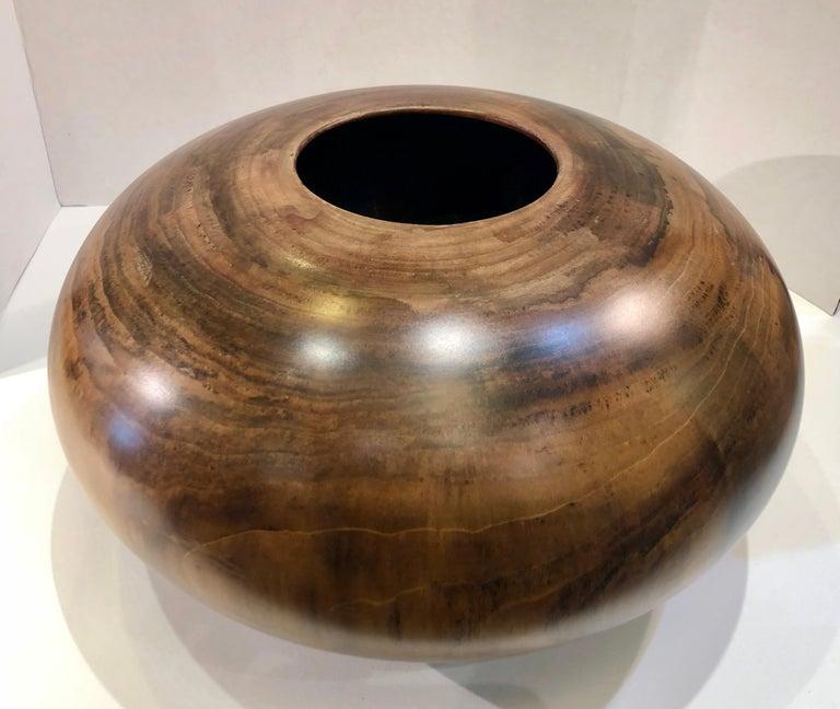 Philip Moulthrop Large Scale Museum Quality Tulipwood Turned Vase Vessel Bowl 14