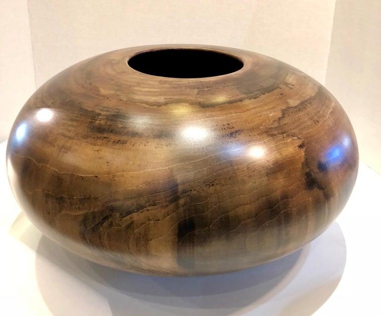 Philip Moulthrop Large Scale Museum Quality Tulipwood Turned Vase Vessel Bowl 15