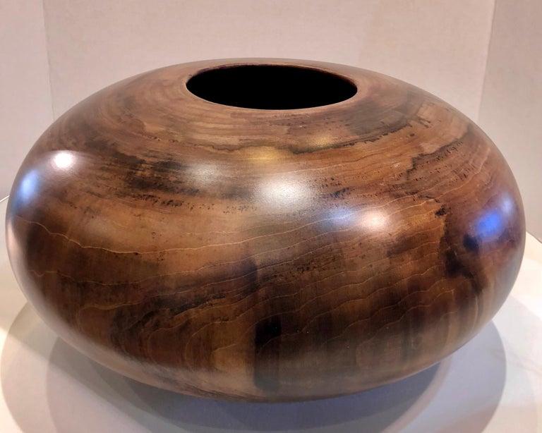 Philip Moulthrop Large Scale Museum Quality Tulipwood Turned Vase Vessel Bowl 16