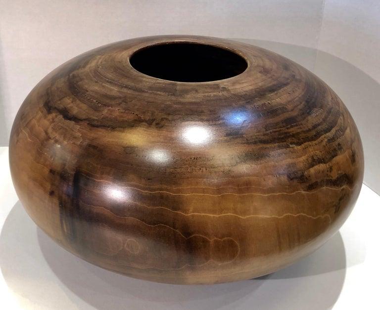 Philip Moulthrop Large Scale Museum Quality Tulipwood Turned Vase Vessel Bowl 17