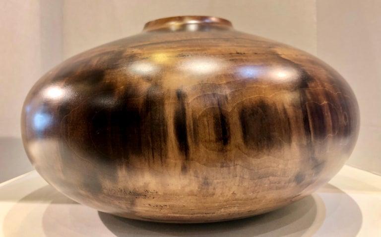 Philip Moulthrop Large Scale Museum Quality Tulipwood Turned Vase Vessel Bowl 18