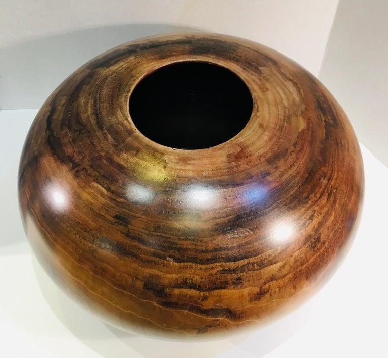 Philip Moulthrop Large Scale Museum Quality Tulipwood Turned Vase Vessel Bowl 2
