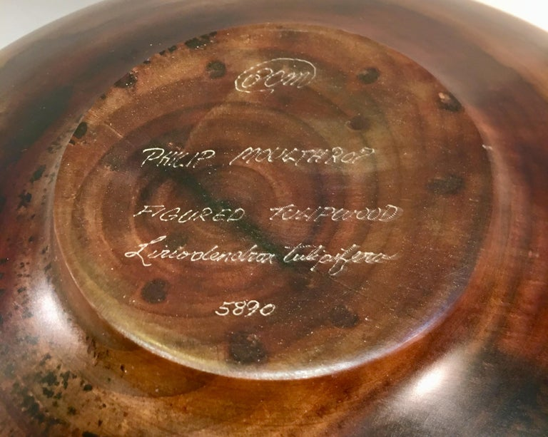 Philip Moulthrop Large Scale Museum Quality Tulipwood Turned Vase Vessel Bowl 3