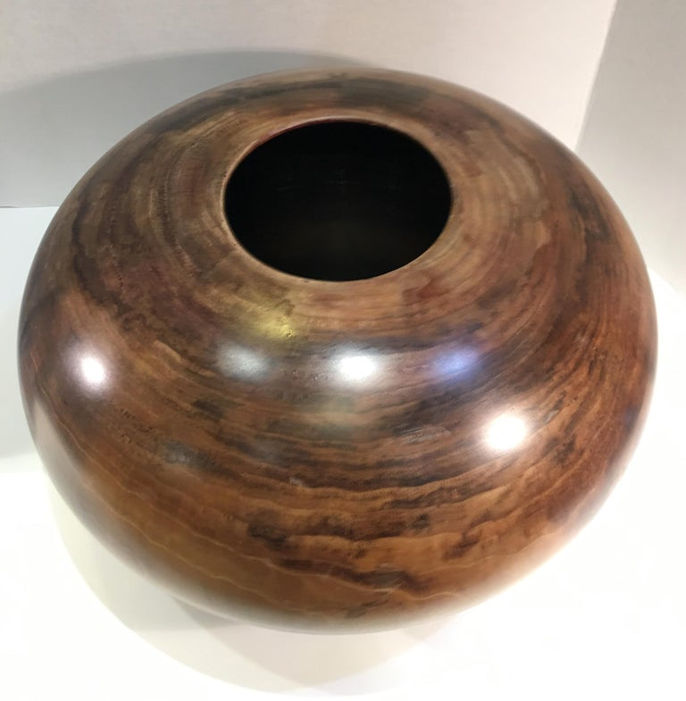 Philip Moulthrop Large Scale Museum Quality Tulipwood Turned Vase Vessel Bowl 4