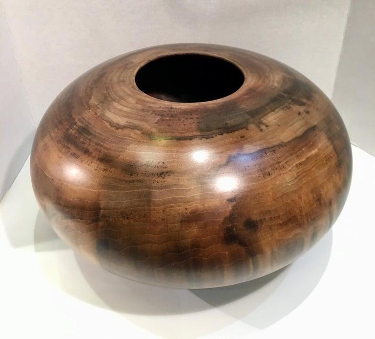 Philip Moulthrop Large Scale Museum Quality Tulipwood Turned Vase Vessel Bowl 5