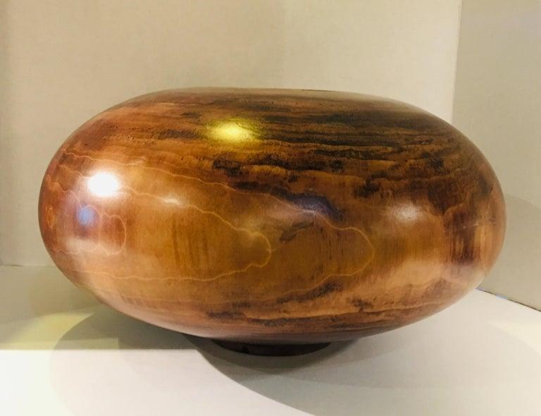 Philip Moulthrop Large Scale Museum Quality Tulipwood Turned Vase Vessel Bowl 7