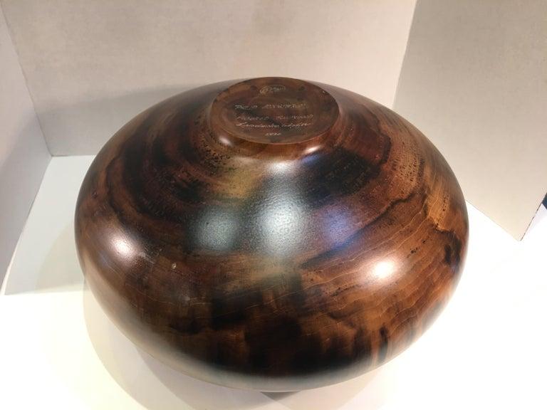 Philip Moulthrop Large Scale Museum Quality Tulipwood Turned Vase Vessel Bowl 9