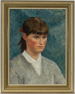 Philip Naviasky (1894-1983) - Fine 1956 Oil, Portrait of a Young Girl