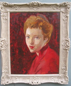Portrait of a Girl/ Young Woman oil circa 1950's