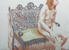 GIRL ON IRON BENCH