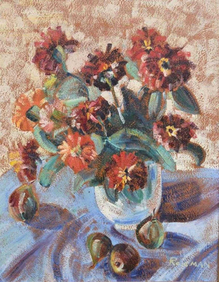 Philip Reisman Still-Life Painting - STILL LIFE WITH FROWERS