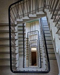 Deco Staircase - CONTEMPORARY PHOTOGRAPHY - COLOUR PHOTOGRAPH - STAIRCASE