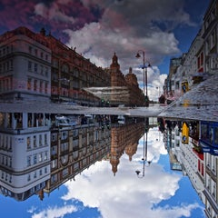 HARRODS INVERTED PUDDLE REFLECTION - Contemporary Abstract Photography Print