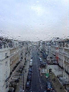 HOMAGE TO LONDON RAIN - CONTEMPORARY PHOTO - COLOUR PHOTO - WINDOW - CITY - VIEW