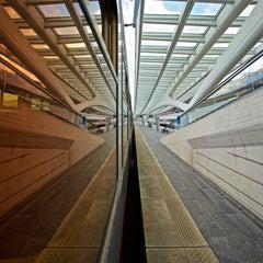 IG POP - CONTEMPORARY PHOTO-COLOUR PHOTO-CORRIDOR-TRAINS-WINDOW-REFLECTION