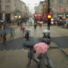 LONDON RAIN AT OXFORD CIRCUS - CONTEMPORARY ABSTRACT PHOTOGRAPH BY PHILIP SHALAM
