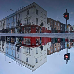 PORTOBELLO ROAD INVERTED PUDDLE REFLECTION  - CONTEMPORARY - COLOUR PHOTOGRAPHY