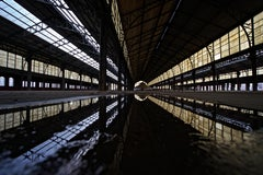SOLARIS - CONTEMPORARY PHOTO - COLOUR PHOTO - WAREHOUSE - RAIN - REFLECTION