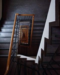WHITE FLASH - CONTEMPORARY PHOTOGRAPHY - COLOUR PHOTOGRAPH - STAIRCASE