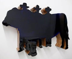 "Contemporary Wall Sculpture ""Prize Bull"""