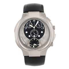 Philip Stein Chronograph Black Dial Stainless Steel Quartz Men's Watch 9-CRB3-CB