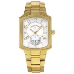 Philip Stein Signature White MOP Dial Gold Tone Steel Ladies Watch 21GP-FW