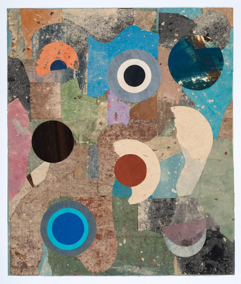 PHILLIP SULTZ (b. 1930, Buffalo, NY)  Philip Sultz is a mixed media artist who has made paintings, collages, and assemblages using a variety of materials. There is a subtle offhand beauty to his organic arrangements of cut paper and matte pigment.